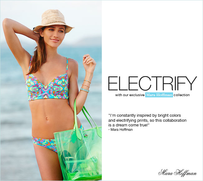 Our Mara Hoffman capsule collection electrifies