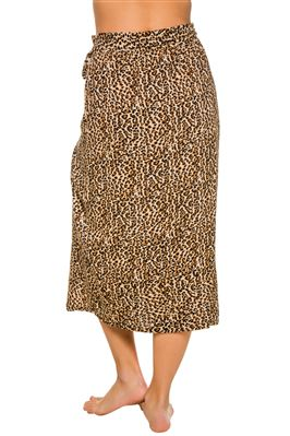 Leopard Print Beach Babe Wrap Skirt