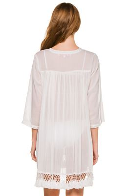 Seychelle Tie Front Sheer Tunic