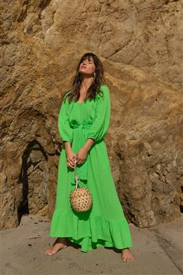 Shell Beach Long Sleeve Maxi Dress