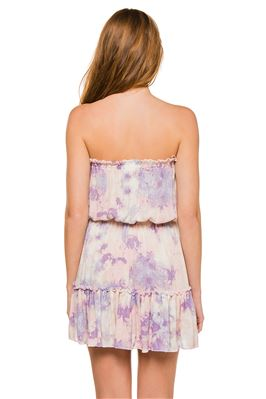Tie Dye Short Strapless Dress