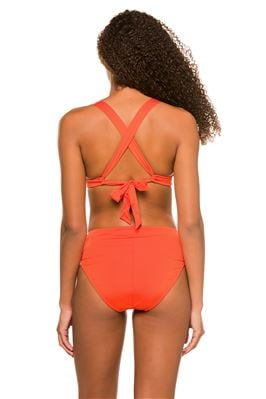 Twist Front Molded Halter Bikini Top