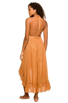 Alice Metallic Halter Dress