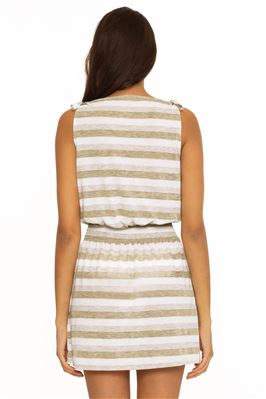 Shimmer Stripe Tank Dress