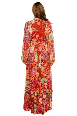 Hudson Floral Long Sleeve Maxi Dress