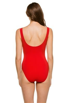 Lace Up Plunge One Piece Swimsuit