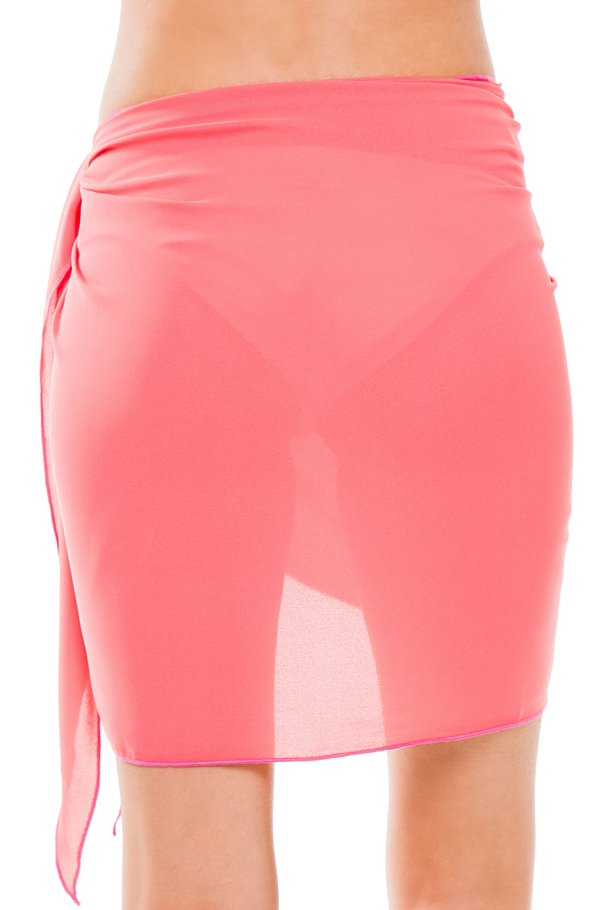 Sheer Short Cover Pareo - Coral 2