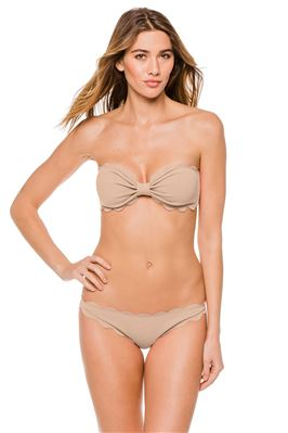 Antibes Sweetheart Scalloped Bandeau Bikini Top