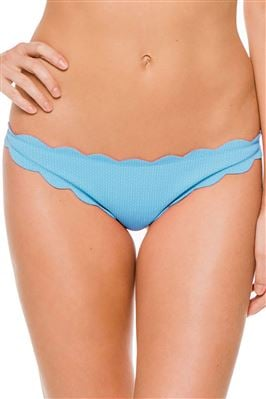 Low-Rise Scalloped Brazilian Bikini Bottom