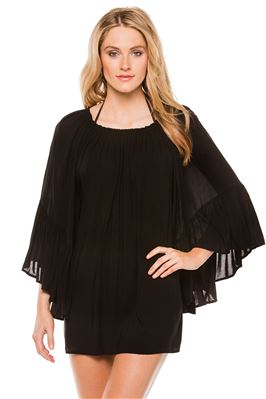 Off The Shoulder Ruffle Sleeve Blouse