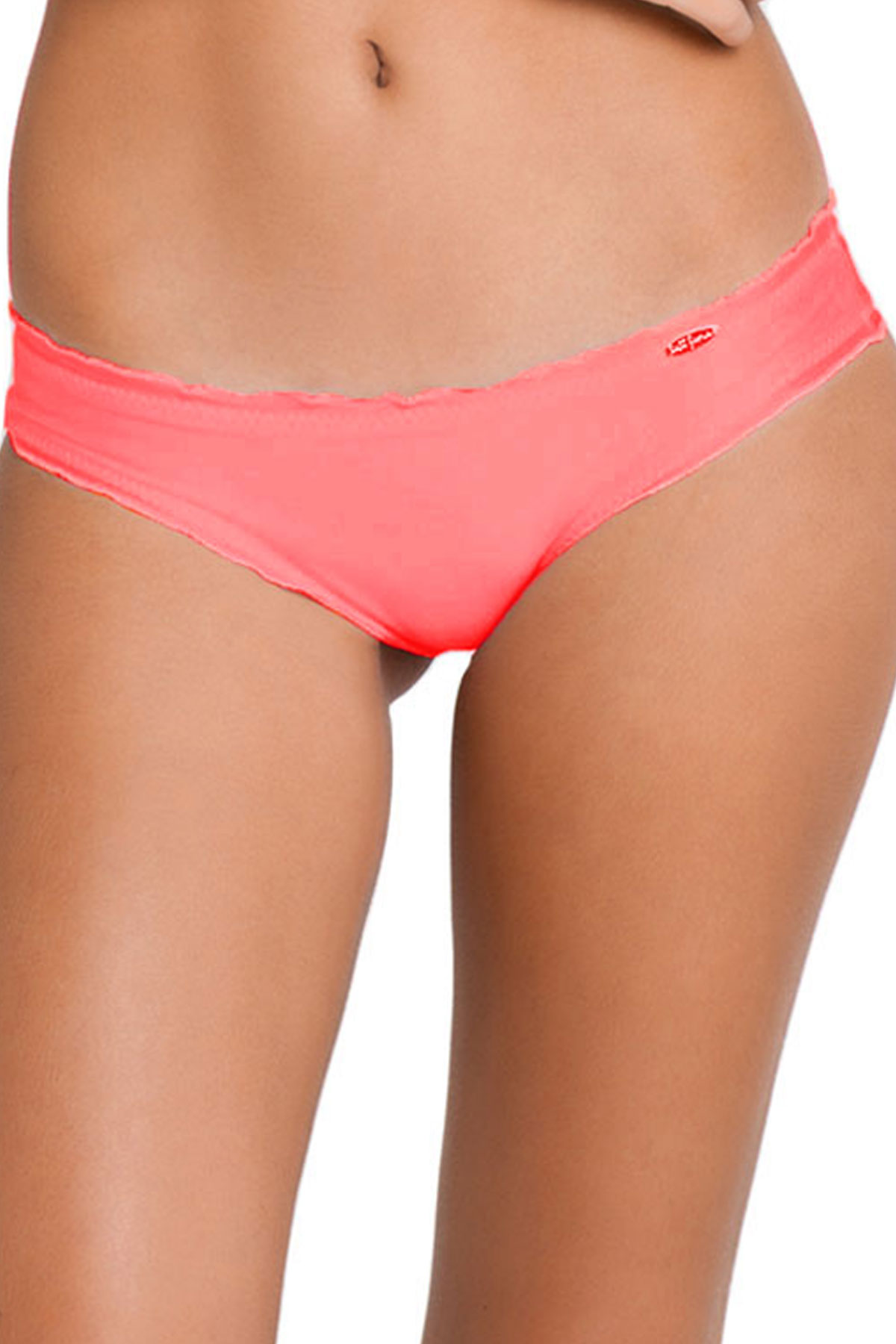 Ruched Hipster Bikini Bottom - Hot Mess 1