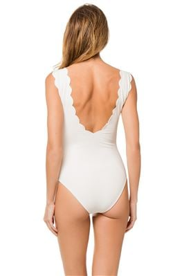 Scalloped One Piece Swimsuit