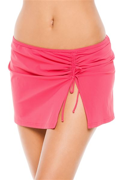 Side Tie Skirted Hipster Bottom - Azalea - 10
