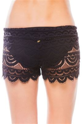 Lace Tie-Front Shorts