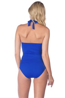 Shirred Halter Tankini Top