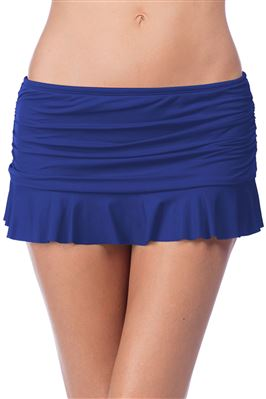 Shirred Ruffle Skirted Hipster Bikini Bottom