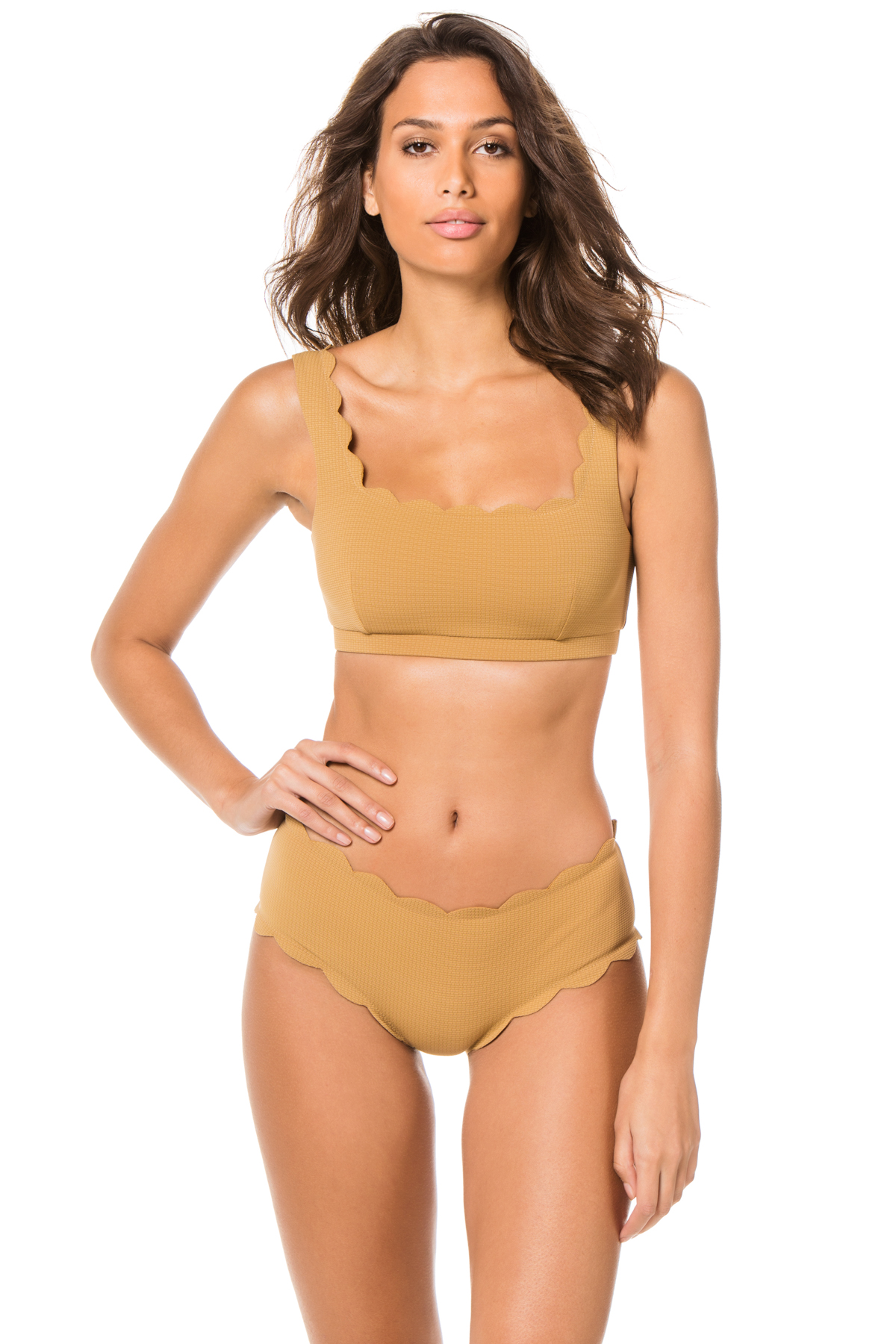 Palm Springs Scalloped Bralette Bikini Top - Canyon 1