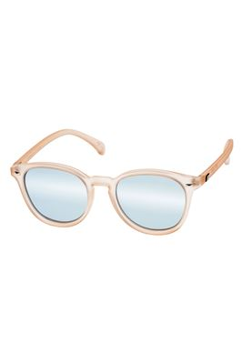 Bandwagon Ice Blue Mirror Lens Round Sunglasses