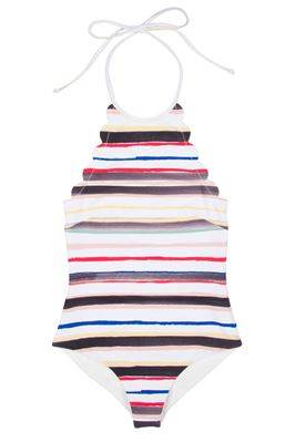 One Piece High Neck Halter