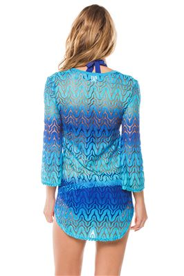 Ombre Crochet V-Neck Tunic