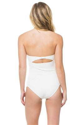 Scalloped Bandeau One Piece Swimsuit