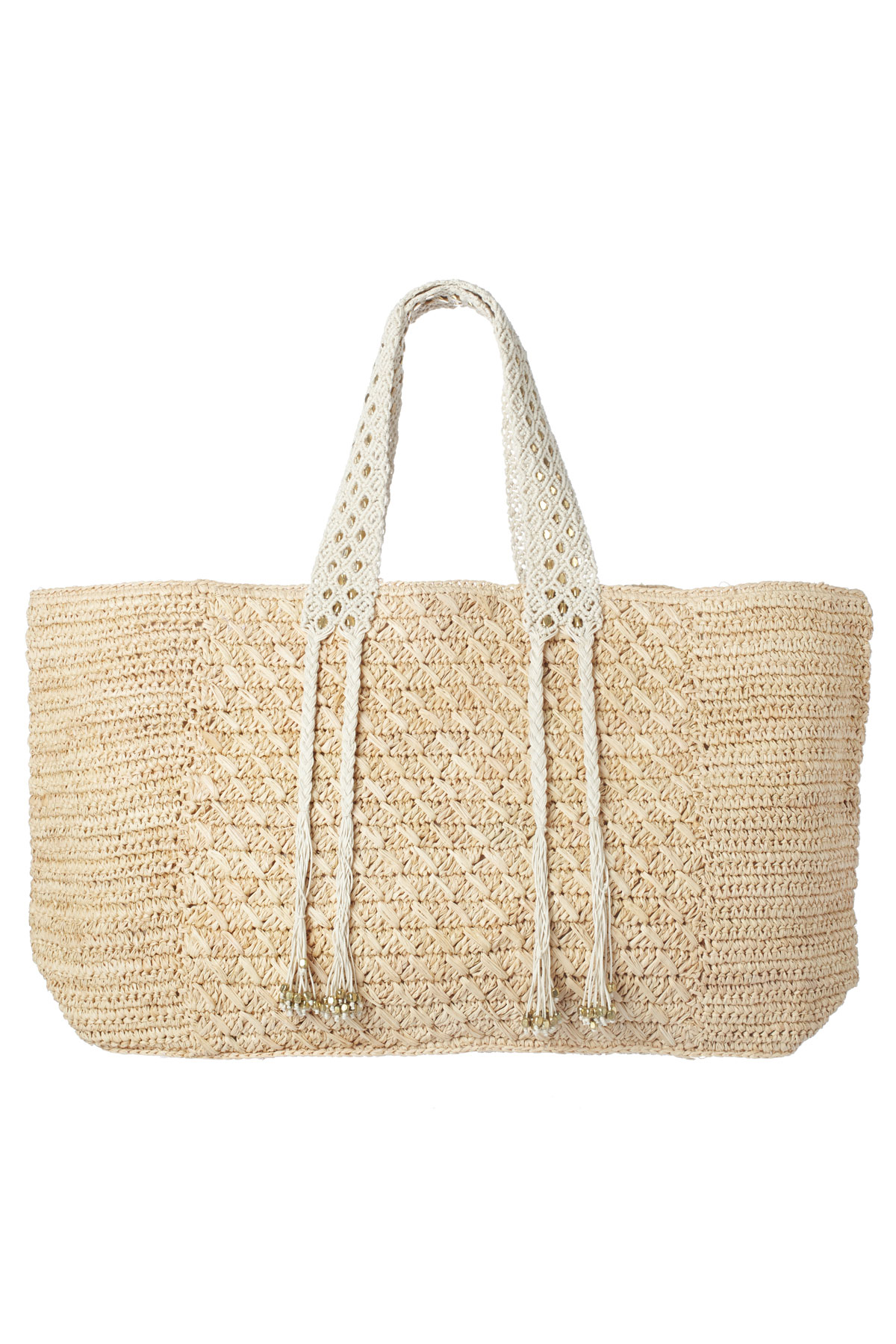 Handcrafted Raffia Tote - Natural