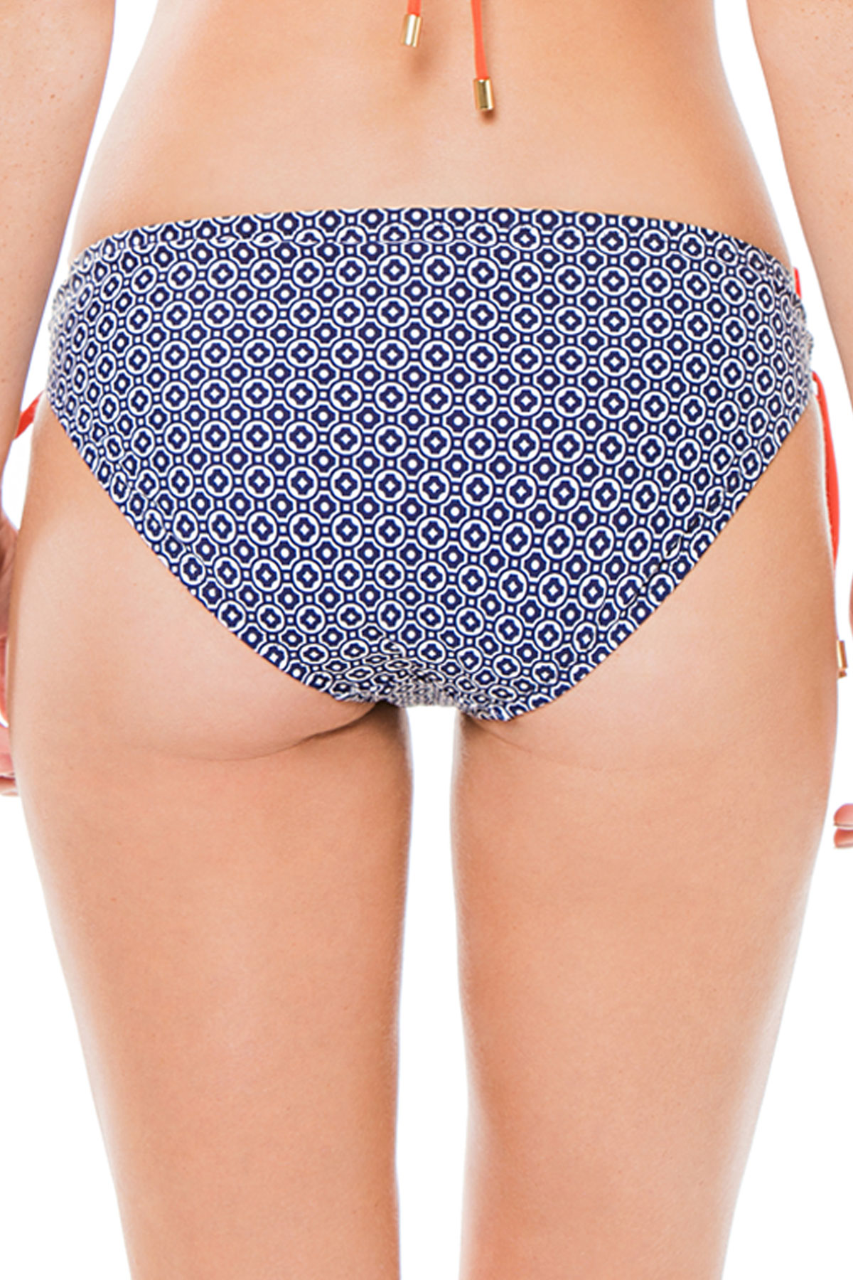 Loop Tie Side Hipster Bikini Bottom - Navy 2