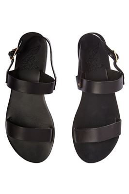 Sling Back Leather Slides