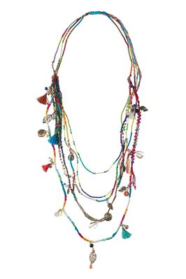 Multi Charm Layering Necklace