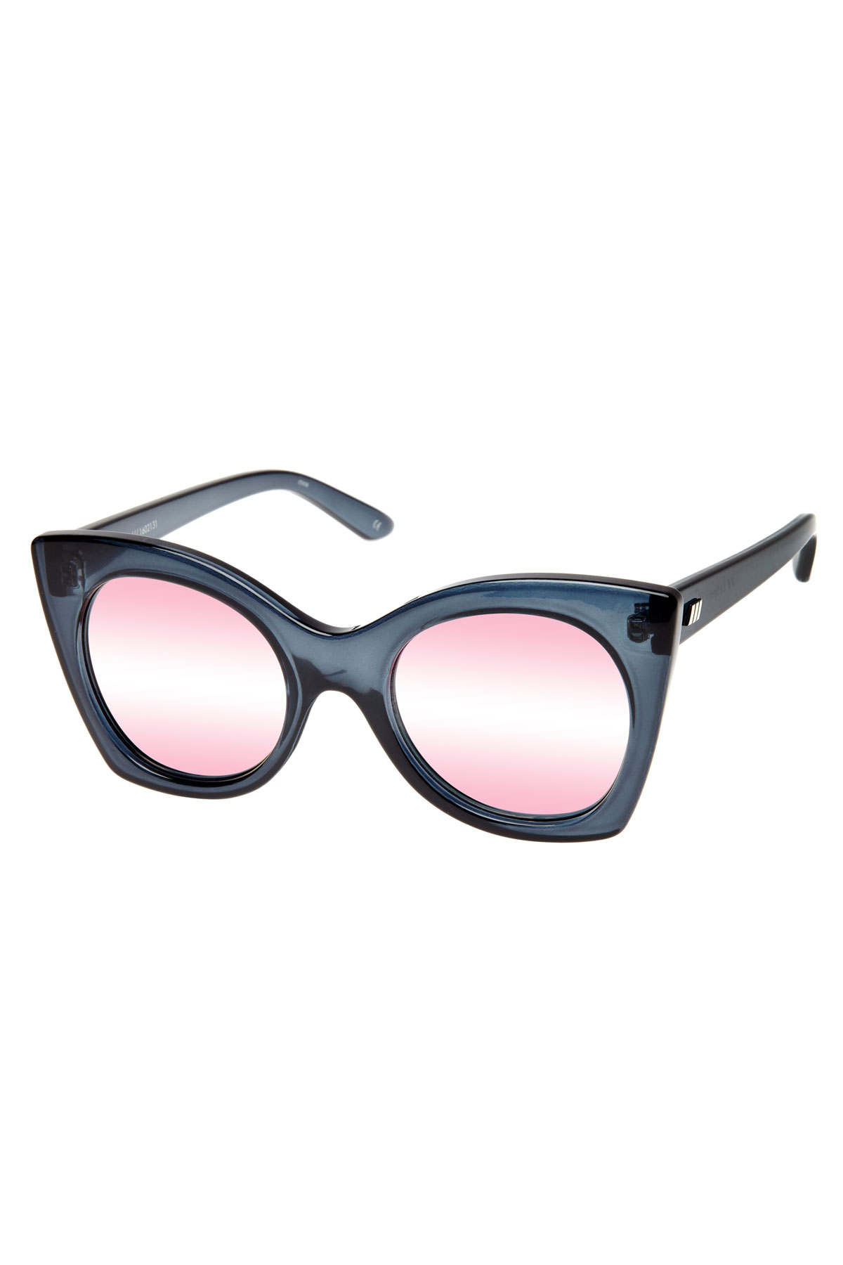 Savanna Rose Grad Mirror Lens Cateye Sunglasses - Slate 1