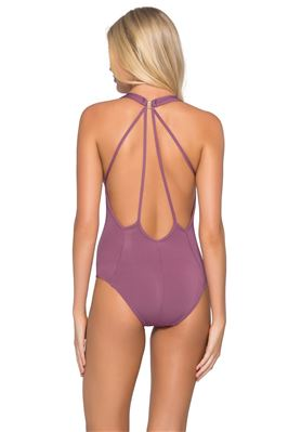 Plunge Over The Shoulder One Piece Swimsuit