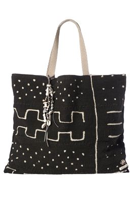African Embellished Textile Tote