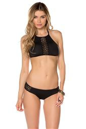 Ringlet High Neck Halter Bikini Top
