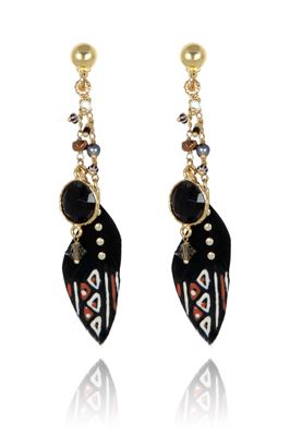 Rocaille Feather Earrings