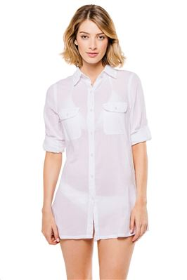 Button Down Camp Shirt Dress