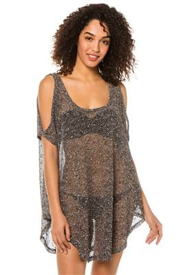 Sheer Cold Shoulder Tunic