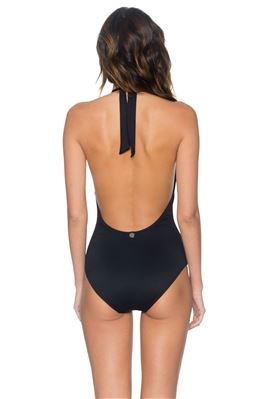 Plunge Halter One Piece Swimsuit