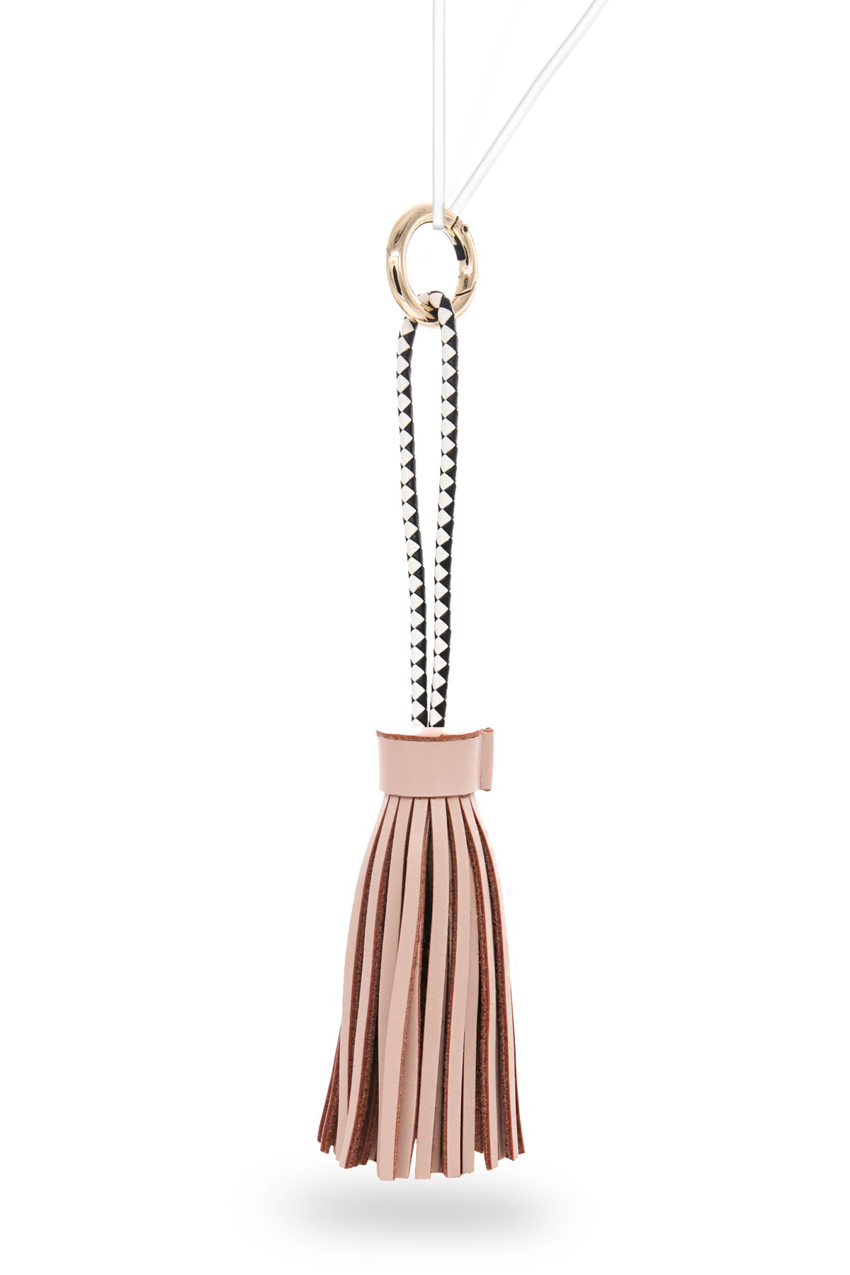 Houppe Tassel Charging Cable - Checkered/Nude