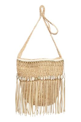 Dominica Puka Shell Crossbody Bucket Bag