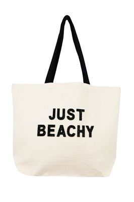 Statement Phrase Canvas Tote