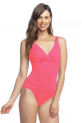 Twist-Front Underwire One Piece Swimsuit