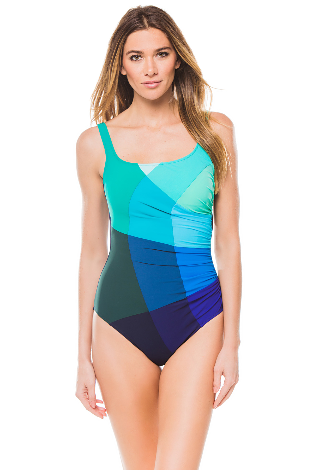 Classic Over The Shoulder One Piece Swimsuit (D Cup) - Multi