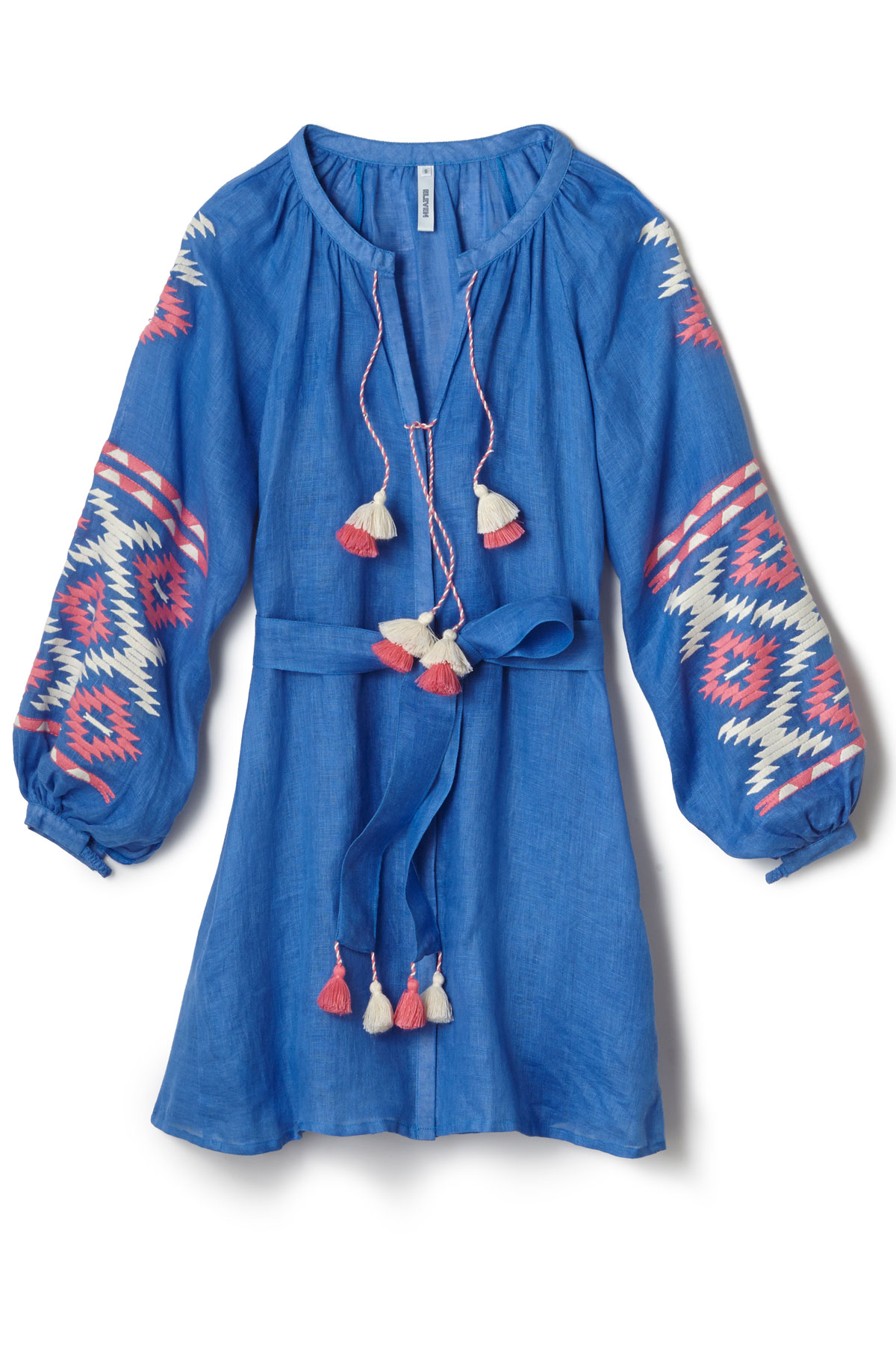 Istanbul Embroidered Mini Dress - Blue 3