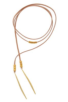 Leather Lariat Wrap Choker