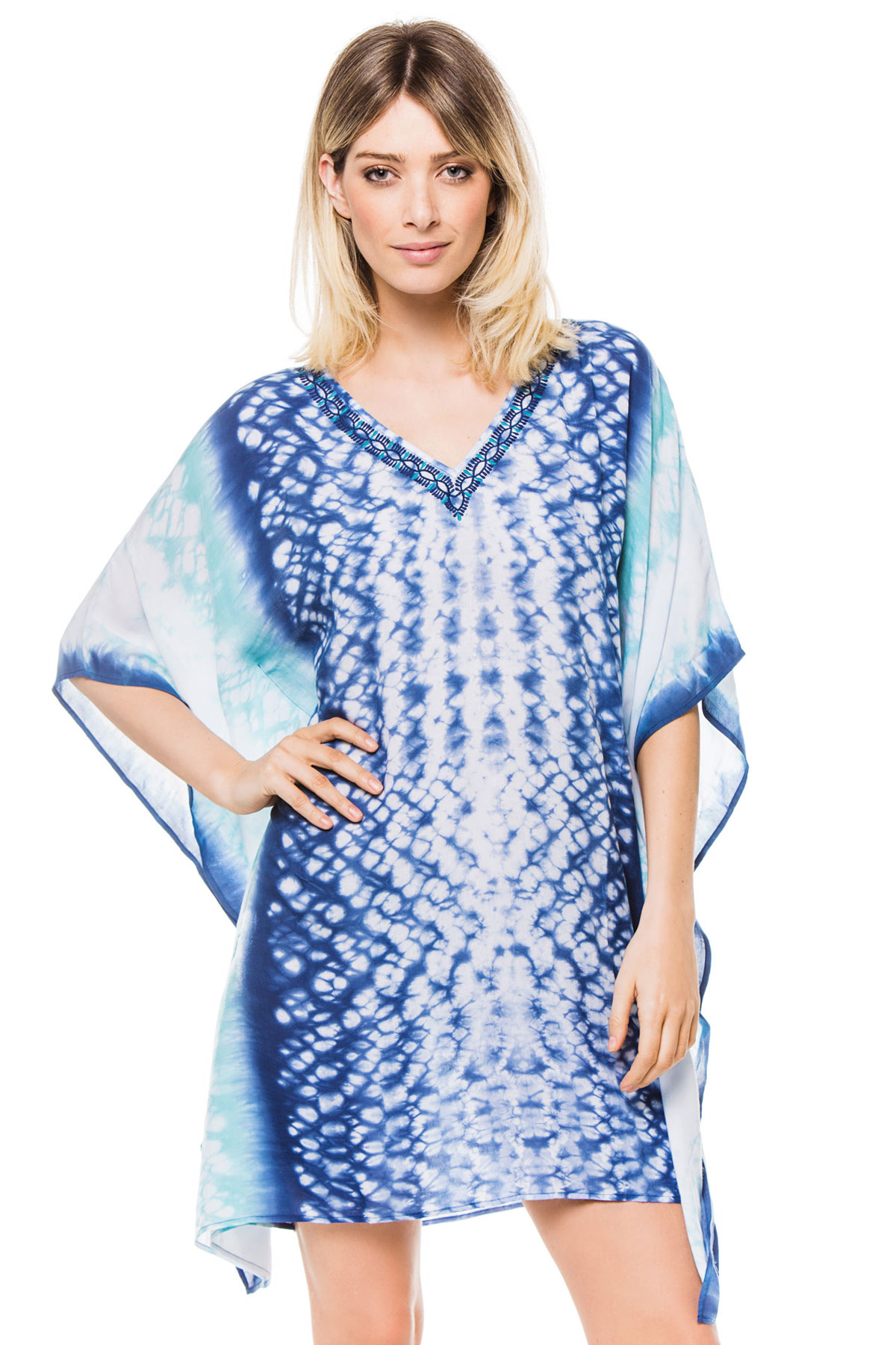 Embroidered V-Neck Tunic - Kasbah