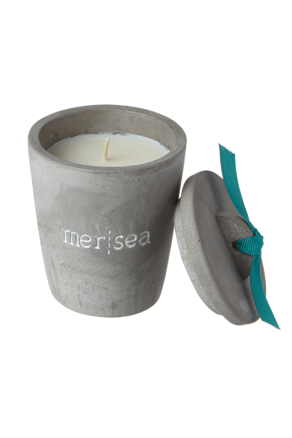 Carena Cement Candle Cup - Gray 1