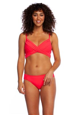 Underwire Over The Shoulder Wrap Bikini Top