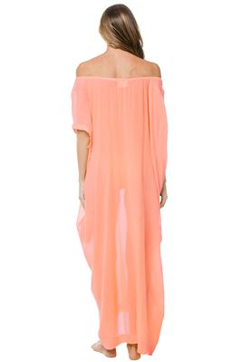 Moonstone Sheer Off The Shoulder Caftan