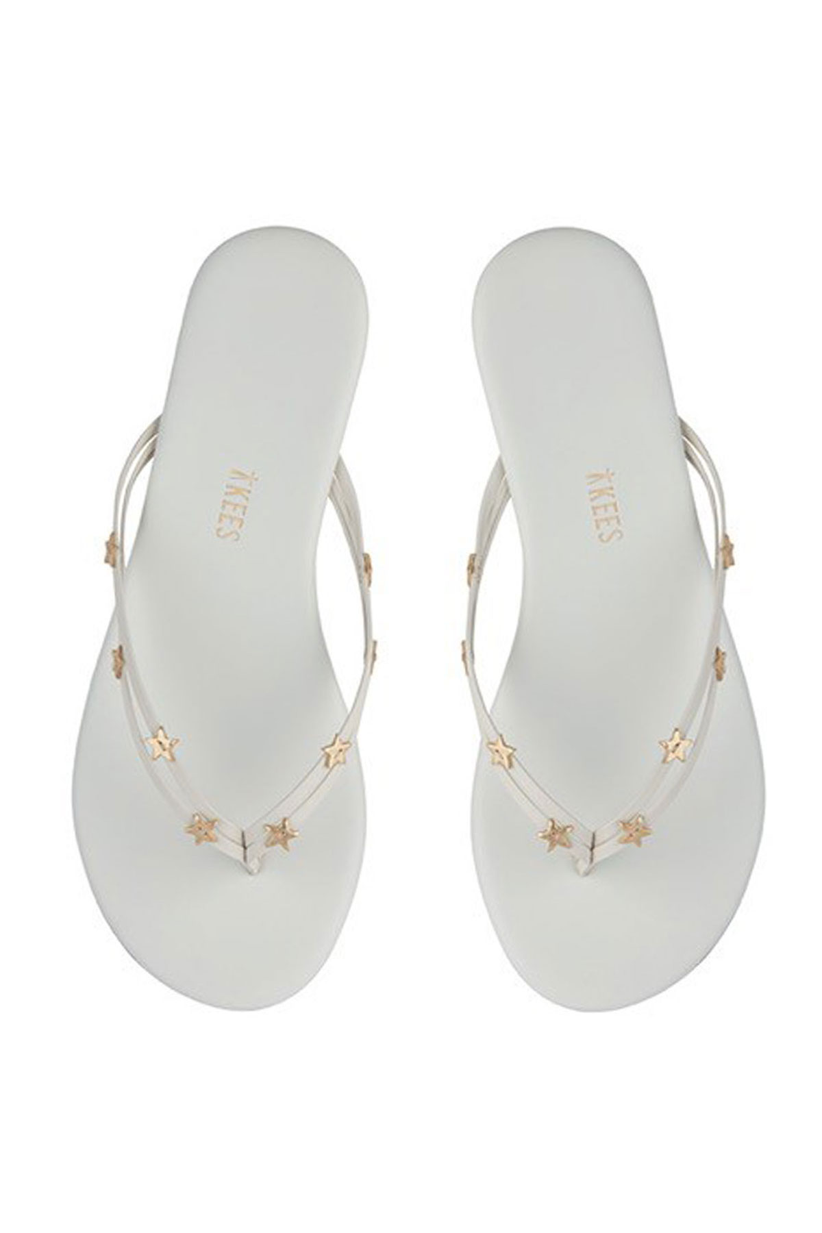 Duos Stars Leather Flip Flops - Milky Way 1