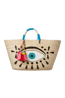 Hand Painted Evil Eye Tote